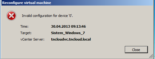 Invalid configuration for device '0′
